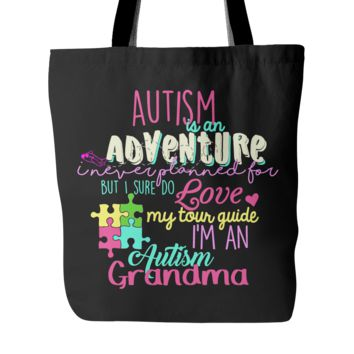 Autism Adventure Tote for Grandma - Black or White