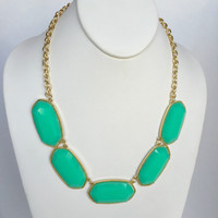 Del Norte Statement Necklace Set In Mint