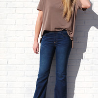 Fit and Flare Stretch Jeans