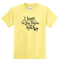 I Love You to the Moon and Back,I love u raglan,love you shirt,I love you tee,gift for her,love tshirt tee,I love you to moon and back shirt