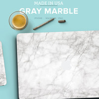 "Elegant White Marble Texture Skin for Apple Macbook Air & Mac Pro Retina, New Macbook 12"" , Toshiba HP Dell Asus Acer Lenovo Samsung"