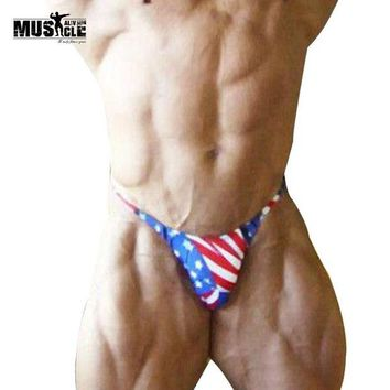 ac NOOW2 Mens Bikini Briefs with American Flag Printing G-String Posing Trunks  Sexy Beach Swimsuits Hot Underwear Contoured Pouch