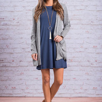 Sweet and Slouchy Cardigan, Gray