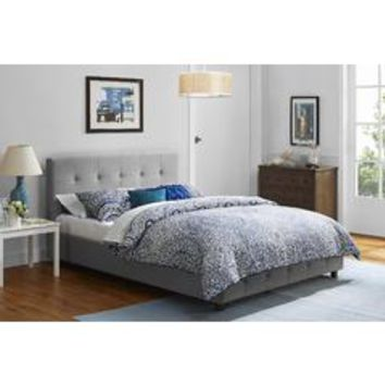 Rose Linen Upholstered Bed Multiple Colors and Sizes - Kmart
