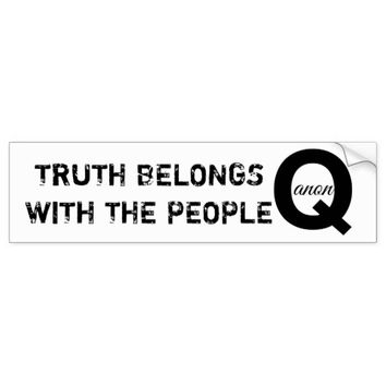 QANON TRUTH BELONGS WITH THE PEOPLE BUMPER STICKER