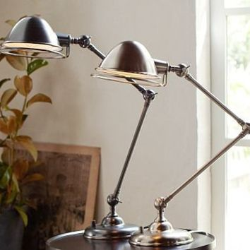 Newbury Halo Task Table Lamp | Pottery Barn