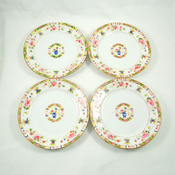 Vintage Set of Four Noritake Plates from the 1920s