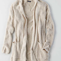 AEO Pocket Cardigan , Holiday Heather Brown