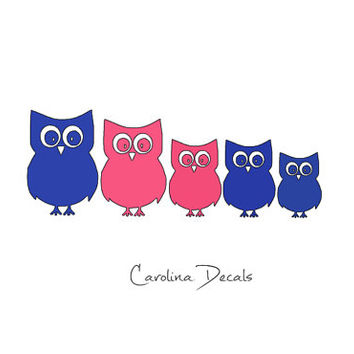 Owl Family Car Decals/Custom Family Car Decals (way better than a stick family)