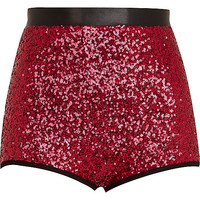 River Island Womens Pink sequin knicker shorts