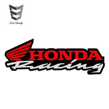 EARLFAMILY 15cm x 5.3cm for HONDA Vinyl Stickers Racing AUTO MOTO MOTORCYCLE MOTOCROSS Car Helmet B 36