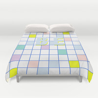 Be Windowpane Grid Duvet Cover by Vasare Nar
