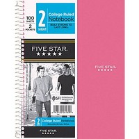 Mead Five Star Wirebound Notebook 2-Subject 9-1/2