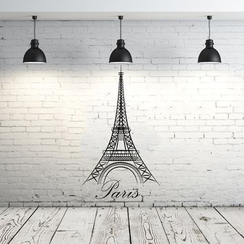 Eiffel Tower Wall Decal Vinyl Stickers Decals Art Home Decor Mural Vinyl Lettering Wall Decal Paris Silhouette France Bedroom Dorm ZX90
