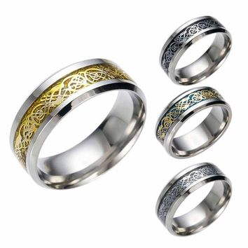 Fashion Men's Rings Punk Casual Party Wedding Men Stainless Steal Ring Steampunk Simple Man Fine Jwelry Gift Z30