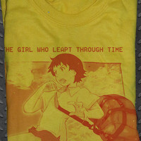 Custom Soft Premium Quality Girl Who Leapt through Time Makoto Konno Cosplay T-Shirt