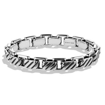 Men's David Yurman 'Modern Cable' Empire Link Bracelet