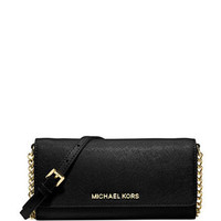 Michael Michael Kors Jet Set Saffiano Wallet On A Chain
