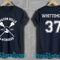 Whittemore 37 Shirt Beacon Hills Lacrosse Shirt Teen Wolf Unisex Size T-Shirt