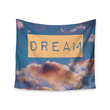 "Iris Lehnhardt ""DREAM"" Clouds Blue Wall Tapestry"