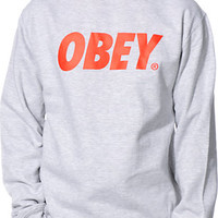 Obey Grey Crew Neck Sweatshirt