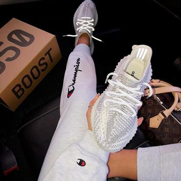 Adidas Yeezy 350V2 BOOST Fish silk white ash Gym shoes