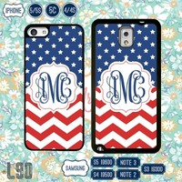 American Flag USA Monogram iPhone 6 case 5S 4S Samsung Note 3 4 S4 S5 S3