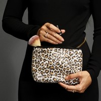Sale-leopard Sequin Makeup Bag