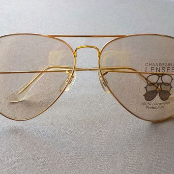 RAY BAN BAUSCH & LOMB VINTAGE AVIATOR SUNGLASSES 80's PHOTOCHROMIC