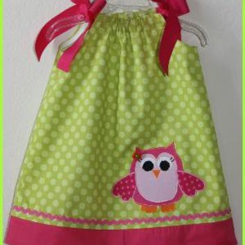 Custom Super Cute Spring Owl Applique by weewhimsycouture on Etsy