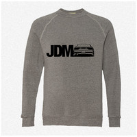 JDM 240SX fleece crewneck sweatshirt