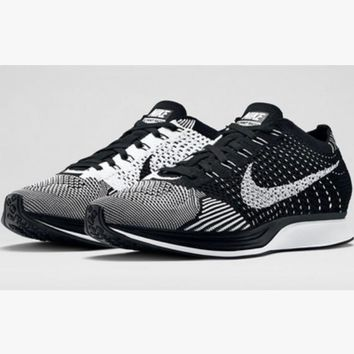 """NIKE"" Trending Fashion Casual Sports Shoes Black grey knit"
