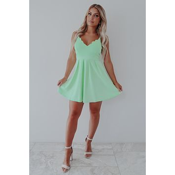 Stay By Your Side Dress: Mint