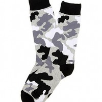 Black and White Camo Socks by K. Bell Socks - ShopKitson.com