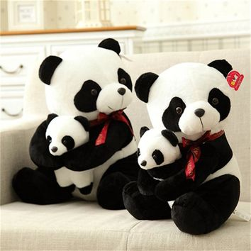 25cm 30cm New Style Father Panda Plush Toy Kids Soft Small Stuffed Animal Plush Doll Cartoon Bear Toys A91