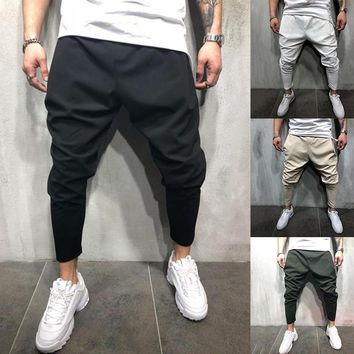 Huation 2018 Fashion Men Joggers Pencil Sweatpants Sportswear Fitness Track Pants Hip Hop Cool Streetwear Pants pantalon hombre