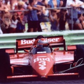 MARIO ANDRETTI SIGNED 8X10 PHOTO - BUDWEISER CAR FRONT