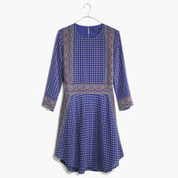 Silk Tee Dress in Ascot Grid