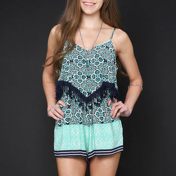 Tropical Pattern Romper