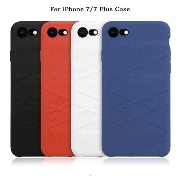 For iphone 7 case cover silicone Nillkin Liquid thin protective shell Protector funda for iPhone 7 Plus case cover cute 4.7/ 5.5
