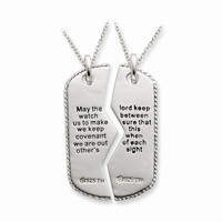 Sterling Silver Military Dog Tag Necklaces