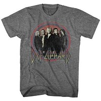Mens Def Leppard Circles Retro T-Shirt