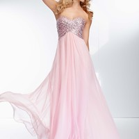Paparazzi by Mori Lee 95057 Strapless Chiffon Dress