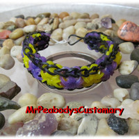 Rainbow Loom Starburst Bracelet - rainbow loom bracelet mens jewelry kids jewelry rainbow loom bands loom bands purple yellow black bands