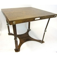 Spiderlegs CD3636-DW Hand Crafted & Custom Finished Puzzle Folding Table in Dark Walnut