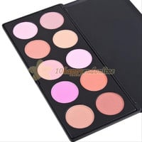 Hot Selling  !!! Professional 10 Colors Cosmetic Contour Face Powder Makeup Blush Blusher Palette (Color: Multicolor) = 1753562052