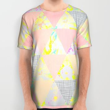 PASTEL NEON GEO FLORALS All Over Print Shirt by Nika