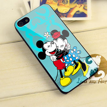 Disney mickey and minnie couple Design for iPhone 4/4s, iPhone 5/5s/5c, Samsung Galaxy S3/S4 Case
