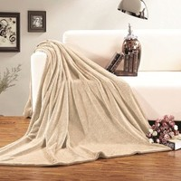 Elegant Comfort® Ultra Super Soft Fleece Plush Luxury BLANKET All Sizes KING/CAL KING Cream