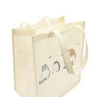 Sleepy Pet Graphic Tote Bag